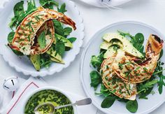 PD Lobster With Avocadoand Watercress Salad Watercress Salad, Gf Recipes, Avocado Toast, Spinach, Seafood, Cooking, Breakfast, Arugula Salad, Kochen