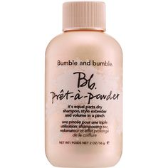 Bumble and bumble Prêt-à-Powder ($27) ❤ liked on Polyvore featuring beauty products, haircare, makeup, beauty, fillers, hair care, cosmetics et bumble and bumble