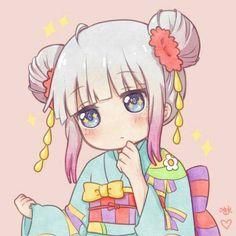Kanna Kamui-Kobayashi : Miss Kobayashi's Dragon Maid Lolis Anime, Moe Anime, Anime Chibi, Anime Art, Loli Kawaii, Kawaii Chibi, Kawaii Anime Girl, Dragon Girl, Miss Kobayashi's Dragon Maid