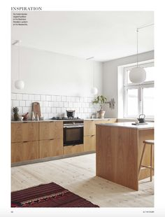 """""""The Green Kitchen"""" For Alt Interiør, Denmark, Oct 2016  The green kitchen is made by """"Det Mondæne Skur"""" Copenhagen and designed by Josefine Hedemann.  The kitchen is made of nature oak with a table top in stainless steel.   Photo by Enok Holsegaard and styling by Sofie Brünner"""