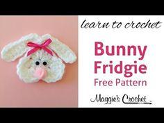 Cute Bunny Fridgie Free Crochet Pattern - Right Handed - YouTube