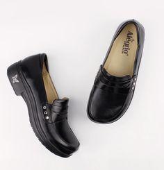 5d13dad2ae0 Alegria Taylor Stone Black Waxy TAY-611 by Alegria Shoes. Black Waxy  Leather upper