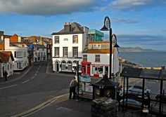 Bus stop at Lyme Regis