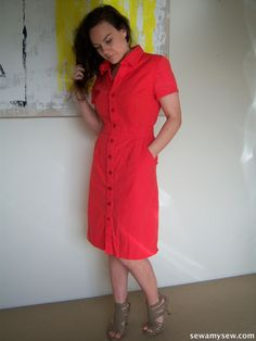 McCall's 6696 by Sew Amy Sew - I need this pattern! Amazing in red.
