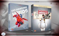 Concept de collection Blu Ray prestige Disney avec fourreau et Digibook : Les nouveaux heros (big hero 6) Big Hero 6, Disney Blu Ray, Animation Disney, The Prestige, Film, Cover, Books, Collection, Baby Born