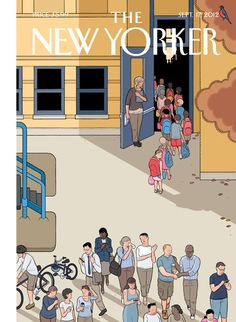 """Cover of the Sept. 17, 2012 issue. The cover's artist, Chris Ware, will be in New York City this weekend for the opening of an exhibition of one half of his drawings for his new book """"Building Stories.""""  Click-through for a slideshow of some things that inspired Ware, and for more on his new book: http://nyr.kr/QnIEoM"""