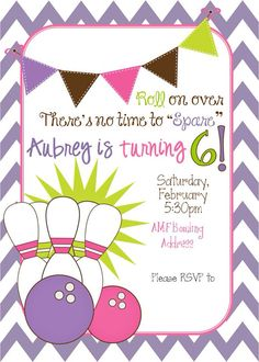 Bowling invitation birthday party bowling party girl party bowling invitation birthday party bowling party girl party bowling birthday party birthdayparty ideas pinterest birthdays bowling party filmwisefo