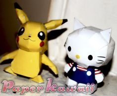 Hello Kitty 3D Paper Crafts Templates