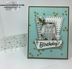 Stampin' Up! Marquee Messages Shaker Card for the Happy Stampers Blog Hop