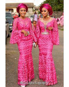 Helping You Slay In Latest Aso Ebi Styles amillionstyles African Lace Styles, African Lace Dresses, Latest African Fashion Dresses, Ankara Styles, Ankara Fashion, African Wear, African Attire, African Women, African Beauty