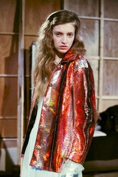 Backstage at Meadham Kirchhoff AW14