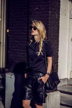 {All black.}