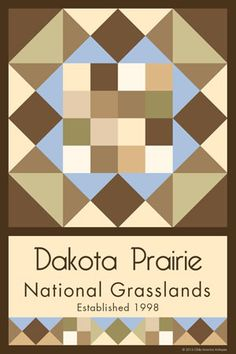 Olde America Antiques | Quilt Blocks | National Parks | Bozeman Montana : Devils Tower National Monument - Dakota Prairie National Grasslands Quilt Block