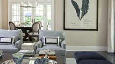 Great oversized artwork in this Hamptons style home in Greenwich CT   Morgan Harrison Home