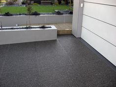38 Best Ideas for exposed aggregate concrete patio design Concrete Patios, Colored Concrete Patio, Concrete Patio Designs, Concrete Porch, Exposed Concrete, Brick Patios, Polished Concrete, Walkway Designs, Cement Patio