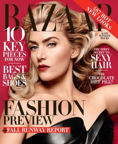 kate winslet harpers bazaar 2014 1 Kate Winslet Covers Harper's Bazaar, Says She's Excited to Turn 40