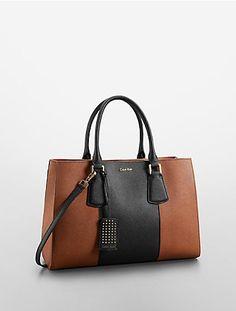 saffiano leather medium tote bag | White Label | Calvin Klein