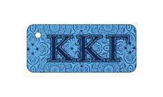 Kappa Kappa Gamma Sorority Key Chain with Monogram/Big/Little on back! More @newbeginningdesigns.com