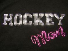 Adult  Bling Hockey Mom by FreshBakedApparel on Etsy, $30.00