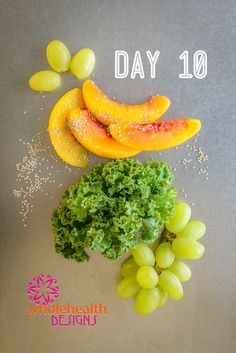 Dream Creamy Green Smoothie: Blend 1 cup kale, 2 cups coconut milk, unsweetened, light 1/2 cup grapes (I prefer frozen) 1/2 cup peaches (frozen, also) 2 Tbsp. chia seeds Drink up!
