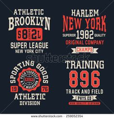 Athletic sport typography, t-shirt graphics, vectors, sport,