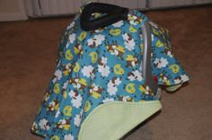 Cows sheep and chicks baby animals flannel car seat by BBsBanners