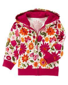 Floral Butterfly Fleece Hoodie