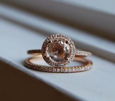 Peach champagne sapphire diamond ring in rose gold. fifteen hundred...for band and ring...oh lord...men take note