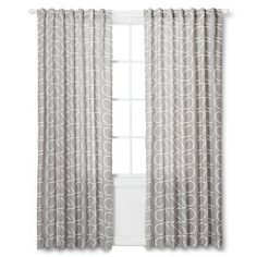 Orla Kiely Curtain Panel - Gray Leaf. Option for Justin's office?