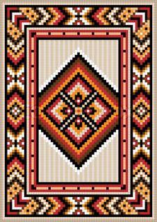 Asian design in the frame for carpet