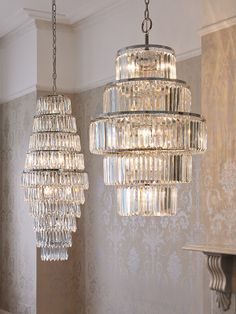 Josette from the Laura Ashley wallpaper collection. Laura Ashley Chandelier, Living Room Decor, Bedroom Decor, Front Rooms, Interior Decorating, Interior Design, Lights, Ring Chandelier, Chandeliers