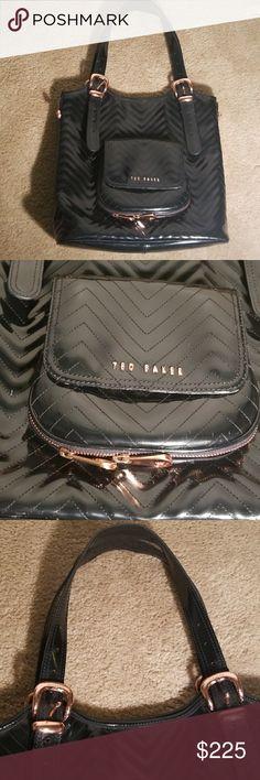 "Ted Baker Blk large bag excellent condition  Size 14"" ×15"" Hardware rose gold Ted Baker Bags"