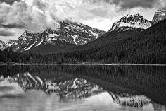 Title  Waterfowl Lake - Black And White   Artist  Stuart Litoff   Medium  Photograph - Photograph