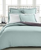Charter Club Damask Stripe 500 Thread Count Duvet Covers