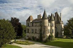 Château de Digoine situé sur la commune de Saint-Martin-de-Commune,Saône-et-Loire, Bourgogne, France.