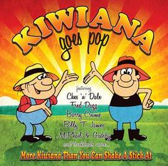 Kiwiana logos, CD covers, book covers, packaging etc.