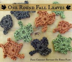Fiber Flux...Adventures in Stitching: Free Crochet Pattern...One Round Fall Leaves!