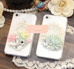 New Plain Style Flatback Scrapbooking / DIY Phone Case Deco Den Kit  & Free Phone Case
