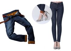 best travel jeans Fleece-Lined Denim Cute Travel Outfits, Cool Outfits, Stylish Jeans, Freezing Cold, Sleep, Denim, Fun, Pants, Products