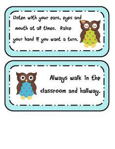 Owl Classroom Rules (Editable!)