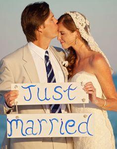 "WeddingChannel Galleries: ""Just Married"" Signs"