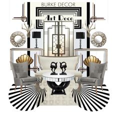 """Art Deco Set"" by szaboesz on Polyvore"