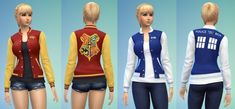 <3   TESTED - WORKS HP & DW Letterman Jackets at Adventures in Geekiness via Sims 4 Updates
