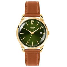 Henry London Chiswich Unisex Watch HL39-S-0186 #Henry #HenryWatches #Gold #Brown #Green #Watch #HenryLondon