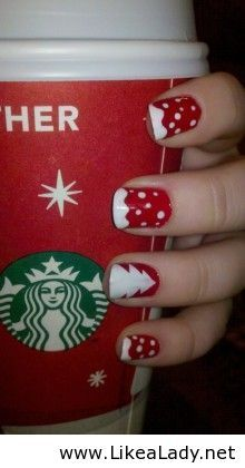 Christmas nail art for@allisonleebrown