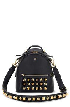 280e147312 Fendi Studded Leather Shoulder Bag Fendi Purses
