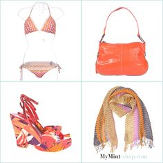 TUESDAY´S NEW ARRIVALS!  Bikini: #missoni Tasche: #miumiu Wedges: #dolcegabbana Schal: #missoni