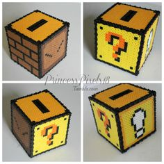 3-D Mario Coin box. (I made the coin slot smaller and stuck a fire flower in mine)