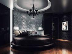Modern bedroom-3D wall panels...exoticaunique. com
