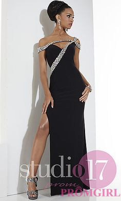 Unique Full Length Dress by Studio 17 at PromGirl.com